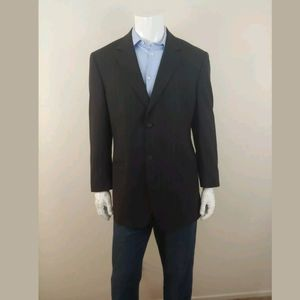 Versace Striped 2 Button Wool Jacket